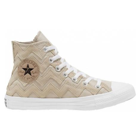 Converse CHUCK TAYLOR ALL STAR VLTG SUEDE OVERLAY béžová - Dámské kotníkové boty