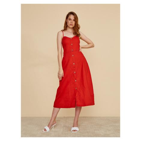 ZOOT červené midi šaty Anastacia
