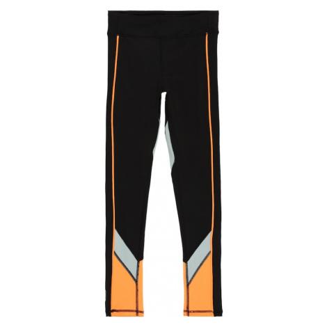 KIDS ONLY Sportovní kalhoty 'DANDO' černá / světle šedá / svítivě oranžová