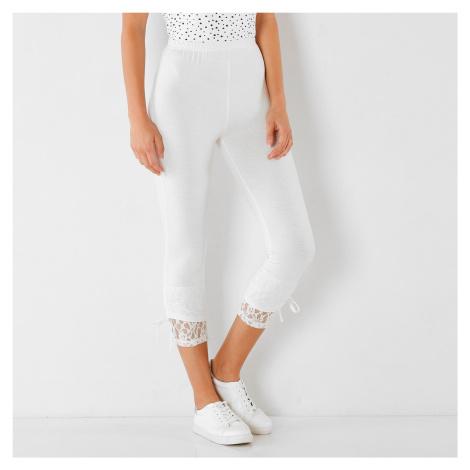 Blancheporte Korzárské kalhoty s krajkou bílá