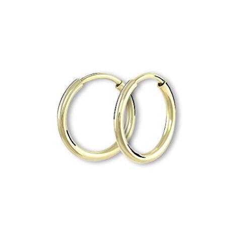 Brilio Náušnice zlaté kruhy 001
