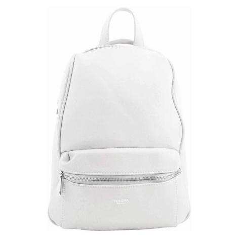 TESSRA MILANO Elegantní bílý dámský batoh / kabelka 4944-TS