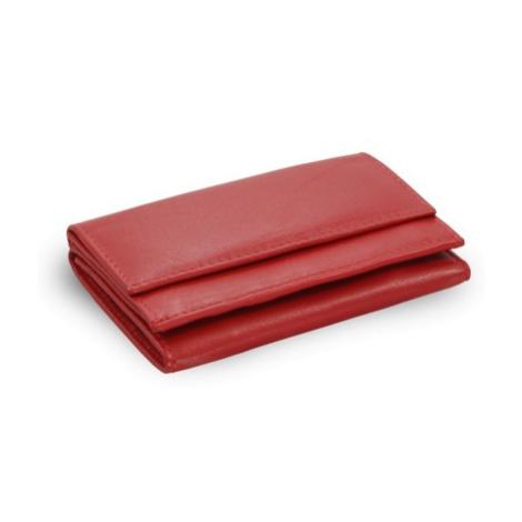 Červená dámská kožená mini peněženka Athena Arwel