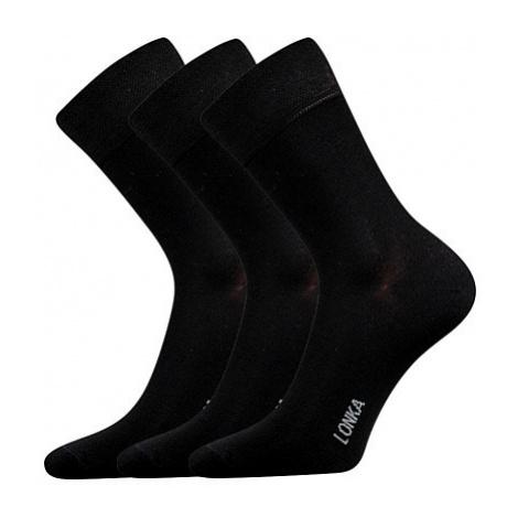 3PACK ponožky Lonka bambusové černé (Debob) M
