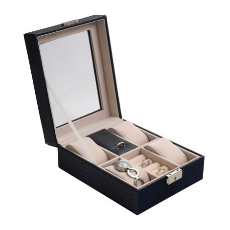 JK BOX SP-1810/A14, Kazeta na hodinky a šperky modrá JKbox