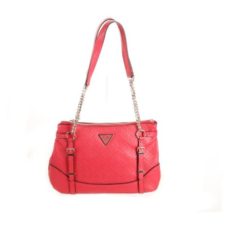Guess dámská tmavě růžová kabelka se vzorem