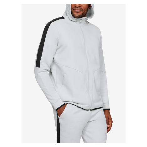 Bunda Under Armour Athlete Recovery Fleece Full Zip-Gry Bílá