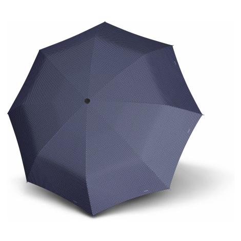 Modrý skládací plně automatický dámský nezničitelný deštník Rambien Doppler