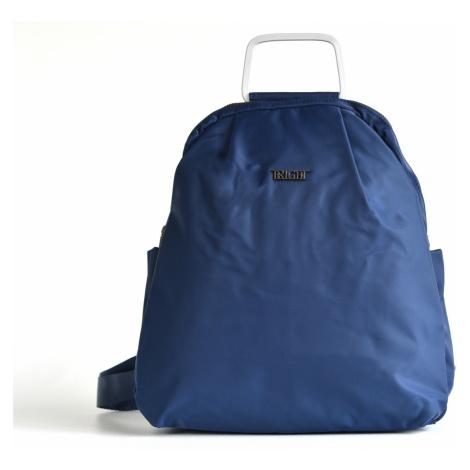Bright Jemný elegantní batoh A5 látkový s kovovým poutkem modrý, 32 x 10 x 36 (BR17-W117-8169-41