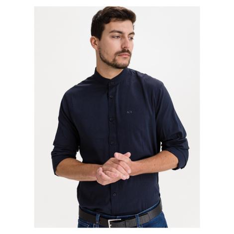 Košile Armani Exchange Modrá