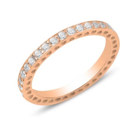 OLIVIE Stříbrný prsten ROSE 3177