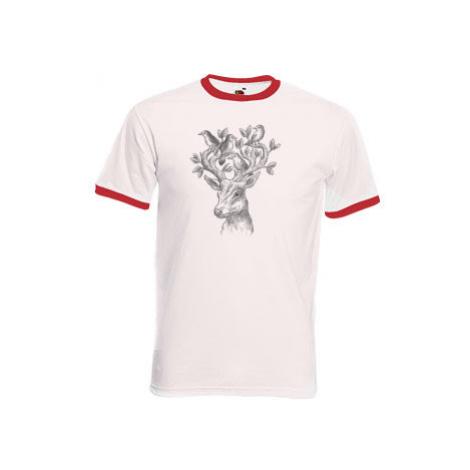 Pánské tričko s kontrastními lemy Jelen