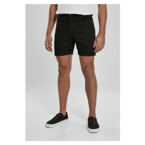 5 Pockets Slim Fit Denim Shorts - black raw Urban Classics