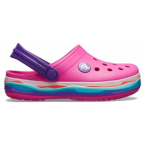 Crocs Crocband Wavy Band Clog K Neon Magenta C5