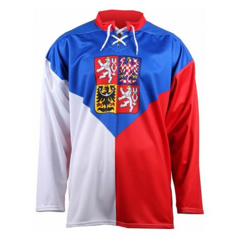 hokejový dres ČR, OH Soči 2014 replika barva: bílá-červená;velikost oblečení: L Merco