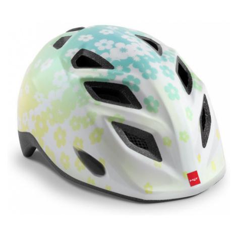 Dětská cyklistická helma MET Elfo kytičky/bílá lesklá