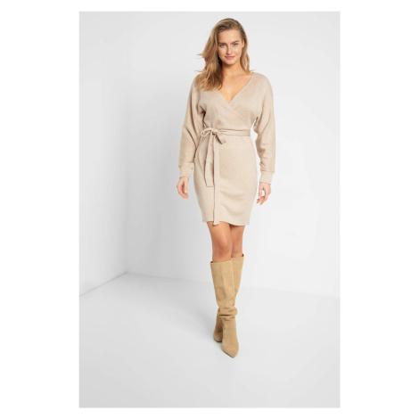 Žerzejové šaty s opaskem Orsay
