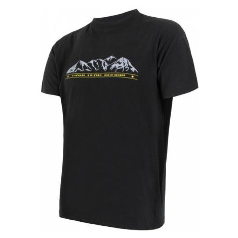 Pánské tričko SENSOR Merino Active PT Mountains černá
