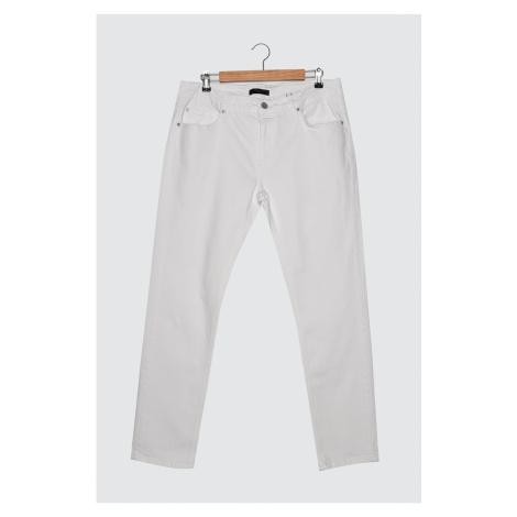 Trendyol White Men's Regular Waist Slim Fit Jeans
