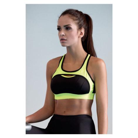 Lorin Fitness podprsenka Nela neonově žlutá