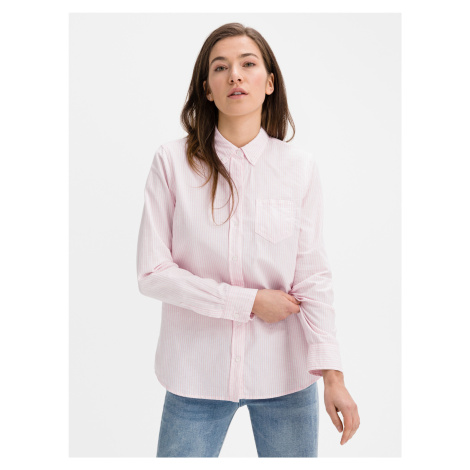 Fitted Boyfriend Oxford Košile GAP Růžová