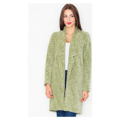 FIGL Olivový elegantní kabát M527 Olive green