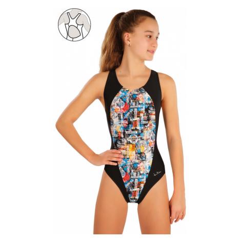 LITEX Dívčí jednodílné sportovní plavky 57586