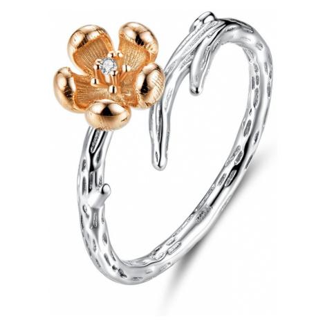 OLIVIE Stříbrný prsten MĚDĚNÁ RŮŽE 3444
