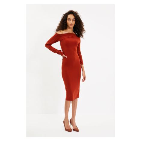 Trendyol Tile One Shoulder Knitted Dress