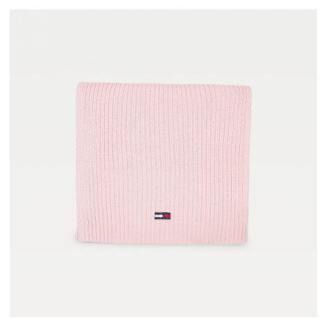 Tommy Jeans dámská světle růžová zimní šála Tommy Hilfiger