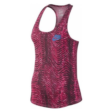 Dámské tílko Nike Run Printed Flow Růžová / Modrá