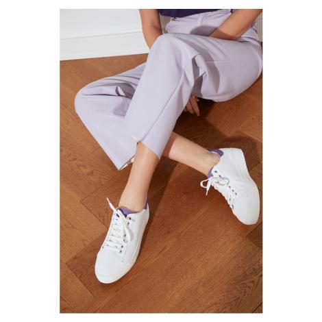 Trendyol Lila Suede Detailed Women's Sneaker