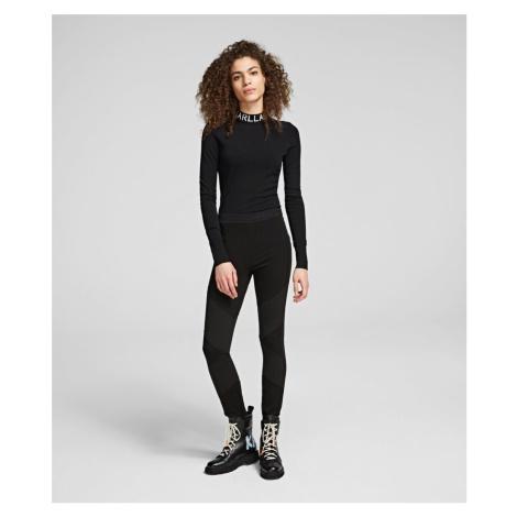 Legíny Karl Lagerfeld Punto Ottoman Legging W/ Logo - Černá
