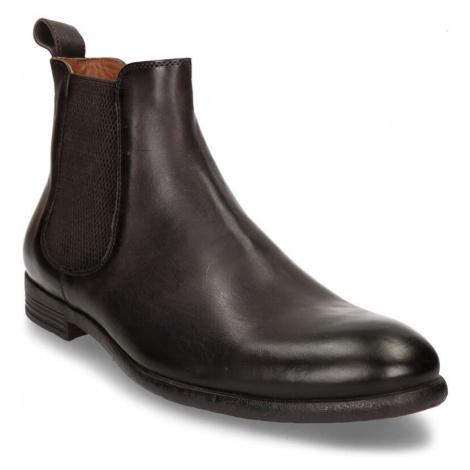 Hnědá pánská kožená obuv v Chelsea stylu Baťa