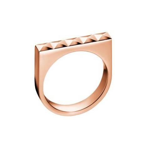 Calvin Klein Bronzový prsten Edge KJ3CPR1001