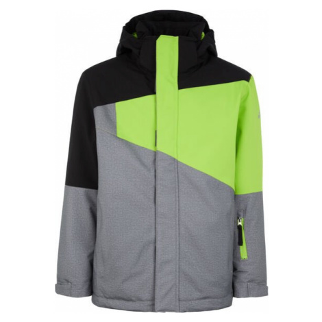 Bunda McKinley Speed Evan - šedá/černá/zelená 140 cm