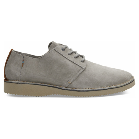 Drizzle Grey Textured Twill/Stitch Out Men Preston Toms