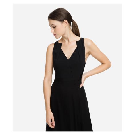 Šaty Karl Lagerfeld Silk Ggt & Cady Maxi Dress - Černá
