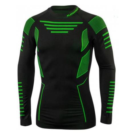 Tričko Klimatex CROUL Černá / Zelená