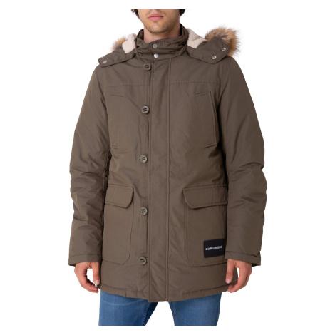 Calvin Klein Bunda Fur Trimmed Hooded D, 371
