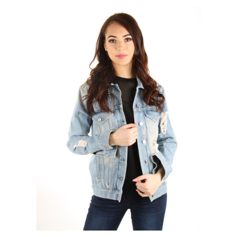 Guess dámská světle modrá džínová bunda