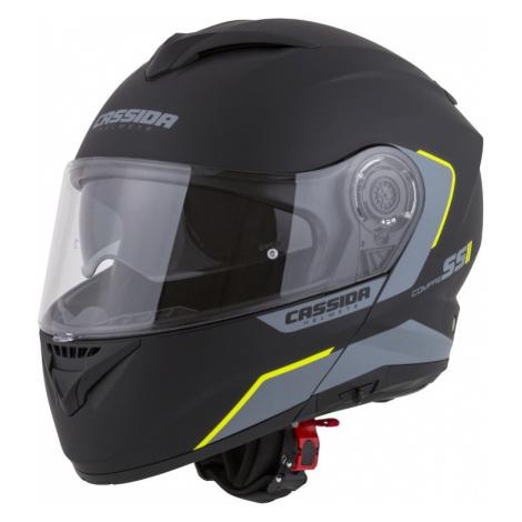 Moto Přilba Cassida Compress 2.0 Refraction Žlutá Fluo/černá/šedá