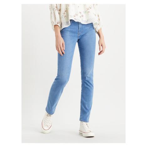724™ High Rise Straight Jeans Levi's® Modrá Levi´s