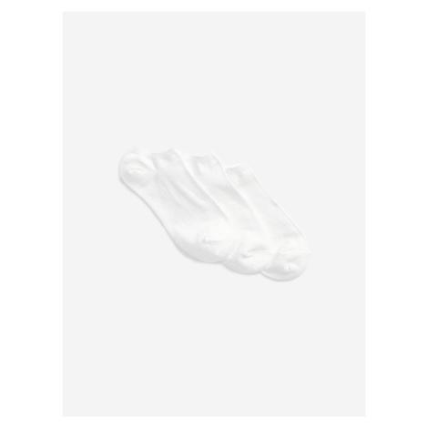 Ponožky 3 páry GAP Bílá