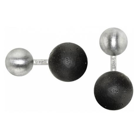Manžetové knoflíčky Beads – antracit GRAVELLI JEWELLERY