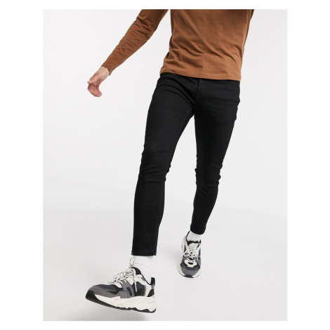 ASOS DESIGN cropped super skinny jeans in black