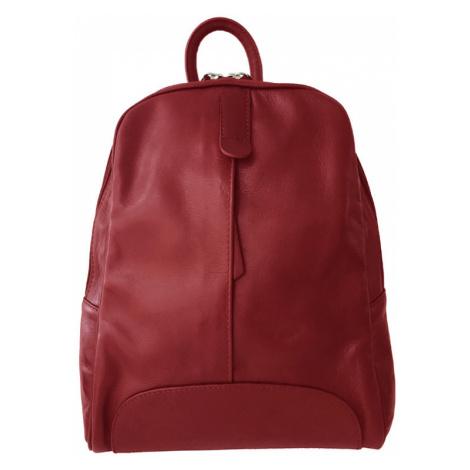 Městský jednobarevný batoh z měkké kůže