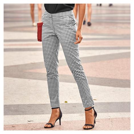 Blancheporte 7/8 úzké kalhoty černá/bílá