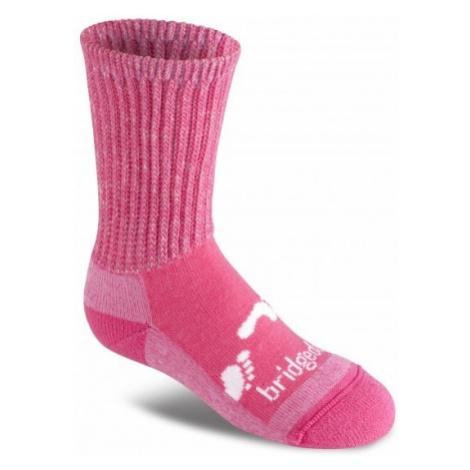 Ponožky Bridgedale Woolfusion Trekker Junior pink XL (37-39 EU)