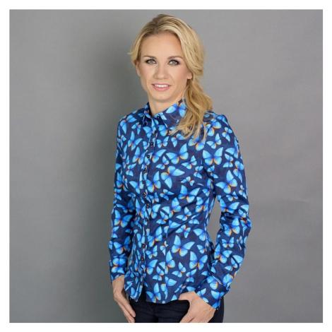 Dámská košile Willsoor 6635 ve tmavě modré barvě s formulí Easy Care